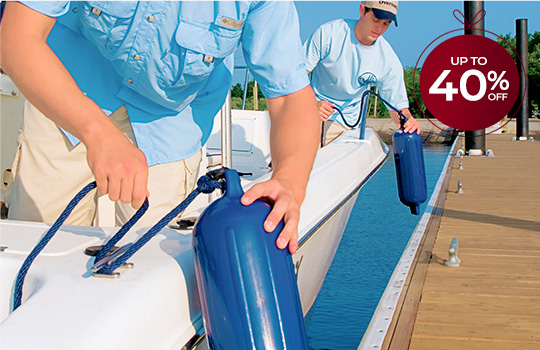 Up to 40% off boat fenders
